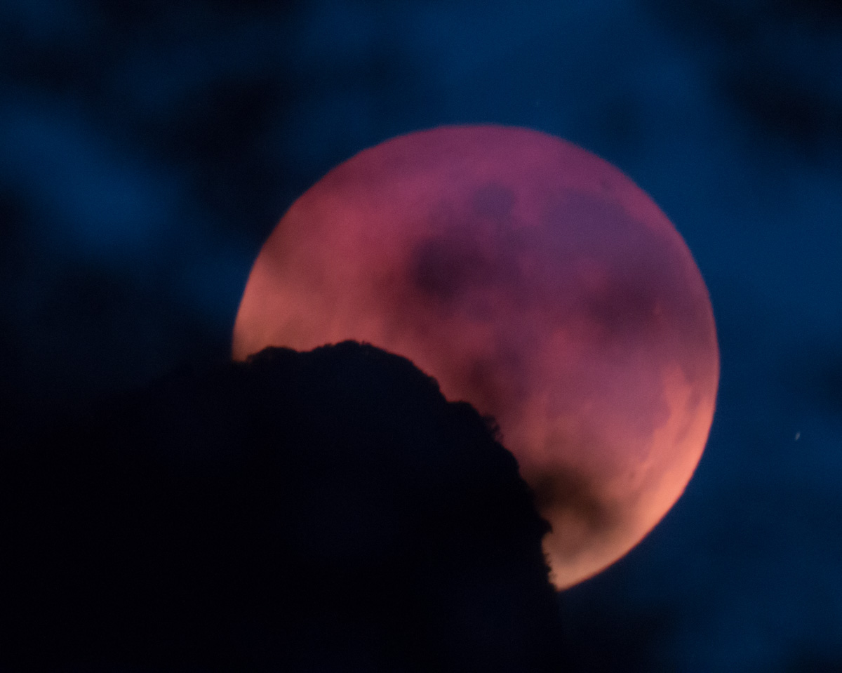 Moon-Blood Moon Mt Warning 28-7-18