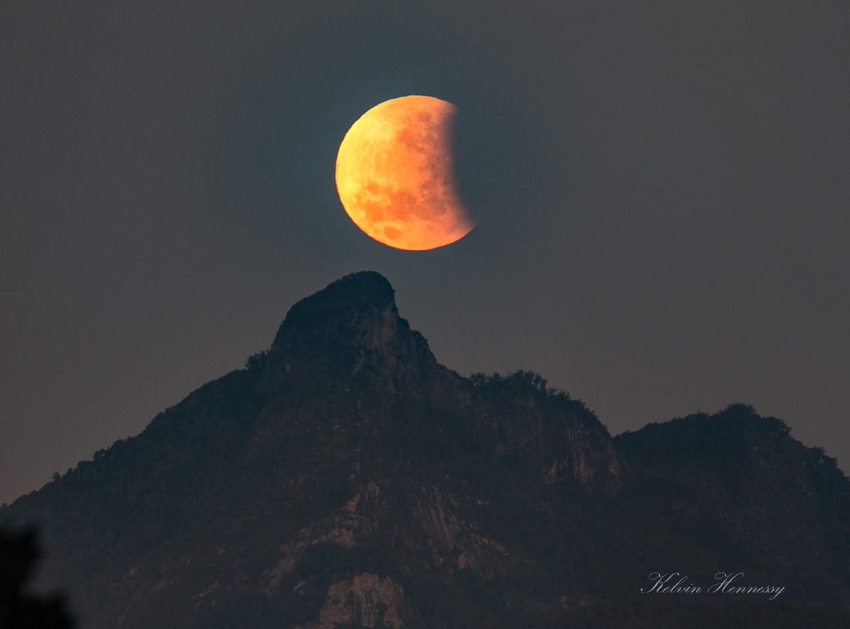 Moon-Mt Warning Eclipse 2
