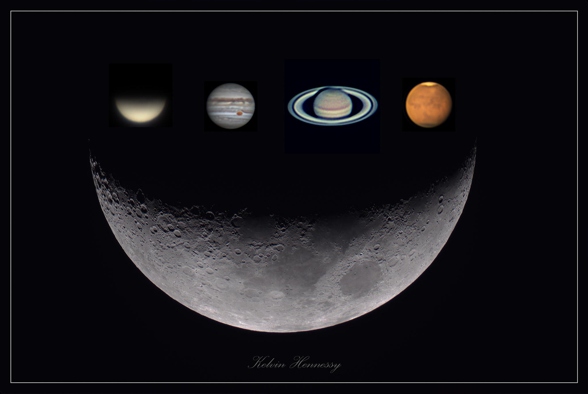 Planets-Moon 30 percent & Planets