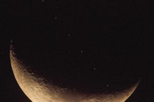 Sat-ISS Crescent Moon