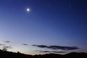 Sat-ISS-Iridium Flare Moon