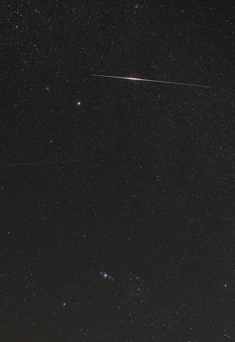Sat-Iridium Flare near Orion